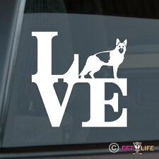 Love German Shepherd Sticker Die Cut Vinyl - park v2