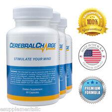 CerebralCharge (3 Pack) - Brain Pills - Enhance Memory, Sharpen Focus