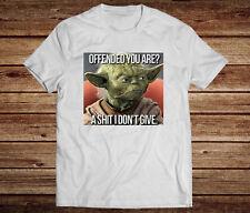 Star Wars Inspired. Yoda Funny Mens Cotton  White T-shirt. Novelty Gift.