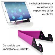 Support Universel Pliable de poche couleur rose pour tablette smartphone Apple,