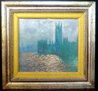 Monet Houses Of Parliament Westminster VTG Giclee Fine Art Print Reproduction