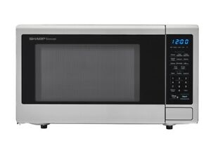 Sharp Carousel 1.1 Cu. Ft. Mid-Size Microwave - Stainless Steel (NO PLATE) (P...