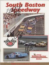 1996 SOUTH BOSTON,VA.NASCAR BUSCH GRAND NATIONAL RACE PROGRAM,SIGNED,STUB,MORE