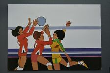 R&L Postcard: 1984 Los Angeles Olympics, Robert Peak, Volleyball