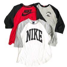Nike Air Mens T-Shirt Spell Out Logo 3/4 Sleeve Baseball Style Raglan XL Lot 3