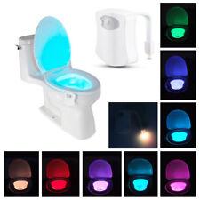 Lightbowl 8 color de sensor de movimiento de luz taza del inodoro cuarto de baño LED luz de noche