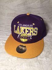 NBA LOS ANGELES LAKERS SNAP BACK HAT (PURPLE)