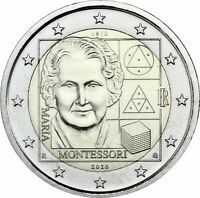 Italien 2 Euro 2020 bfr. Maria Montessori