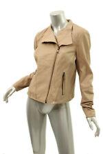 MARC NEW YORK Khaki Leather Asymmetric Jacket L $400