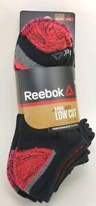 Reebok Ladies Performance Training Low Cut Socks - 8 Pack Black