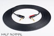 "15' Mogami 2524 Instrument Neutrik Gold 1/4"" 90 TS 1/4"" 90 Silent TS Black"