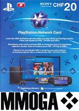 PSN Live Card 20 CHF nur für Schweiz Sony PlayStation Network Key Gutschein [CH]