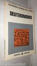 DEUTERONOMIO Mauro Laconi Edizioni Paoline Nuovissima versione Bibbia Biblica di