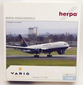 Herpa Wings 506564 VARIG B 777-2Q8ER 1/500 Scale Diecast Model