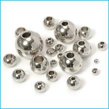 Spacer Beads Loose Ball Big Hole For Jewelry Making Diy Bracelets Necklace 100pc