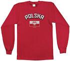 Threadrock Kids Polska Arched Text and Flag Youth L/S T-shirt Poland Polish