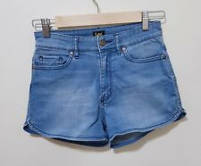 Lee Mid Rise Light Denim Shorts Womens Size 8