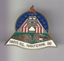 RARE PINS PIN'S ..  TRAIN RAILWAYS SNCF TGV TER RER PARIS R.G NANTERRE 92 ~EA