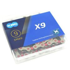 KMC X9 chain,116 link with Missing Link , Silver/Pink
