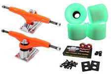 """Gullwing Pro Iii 9"""" 155mm Orange Trucks + Blank Pro 60mm Glow In The Dark Wheels"""