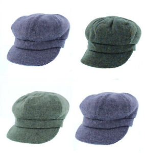 Ladies Failsworth Harris Tweed Bakerboy Cap in a choice of colours