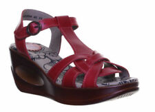 FLY London 100% Leather Sandals Heels for Women