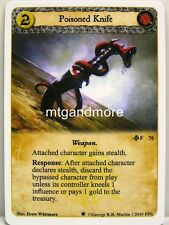 A Game of Thrones LCG - 1x Poisoned Knife  #076 - Westeros Draft Pack