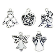 Wholesale Silver Alloy Mixed Angel Fairy Charm Pendant Jewelry Accessories 30pcs