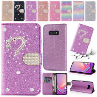 For Samsung Galaxy Note 10 Plus S10 S8+ Bling Magnetic Leather Wallet Case Cover