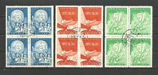 CHINA PRC SC#413-15,  1959 International Labor Day in Block of 4's   C61  CTO NH