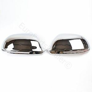 Chrome wing mirror cover caps for Audi A3 A4 A6 S3 S4 S6