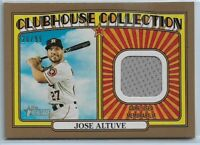 2021 Topps Heritage Jose Altuve Gold Clubhouse Collection Relic #'d 20/99 Astros