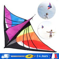 Grande Triangle Cerf-Volant pour Enfants Facile Flyer Rainbow Plage Été 30m