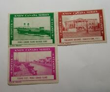Set of 3 Know Canada Series Postage Stamps