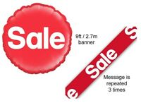 SALE - Promotion Point of Sale Retail Offer - Foil Balloon Banners Decorations