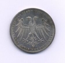 GERMANY FRANKFURT 1848  2 GULDEN SILVER COIN, ALMOST UNCIRCULATED, PROOF-LIKE??