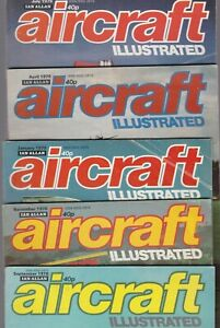 Various Issues of AIRCRAFT ILLUSTRATED Magazine December 1969 to July 1982