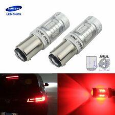 2 BAZ15d 566 P21/4W Ampoule LED Rouge SAMSUNG 15W Feu arrière Feux de Stop Lampe