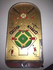 "1938 "" PINCH HITTER "" Baseball Pin-Ball Game ~ J&S Toys USA ~ 23 3/4"" X 12"""