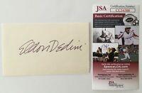 Eldon Dedini Signed 3x5 Card JSA Certified Cartoonist Playboy New Yorker