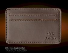 New RVCA Card Mens Brown Leather Wallet