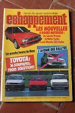 Sport Auto ECHAPPEMENT N°212 TOYOTA MR COROLLA-MAZDA 323 WD-MVS VENTURI-VOLVO