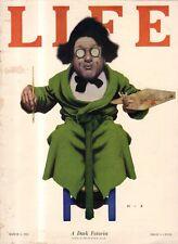 1923 Life March 1 - Maxfield Parrish original issue - A dark futurist