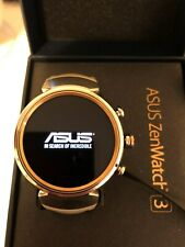 ASUS ZenWatch 3 WI503Q New Android Wear OS Beige LEATHER Band Smart Watch IOS