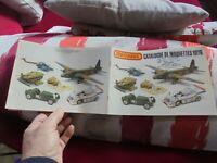 Ancien Catalogue de Maquettes 1976  Matchbox Avion Voiture Hélicoptère Militaire