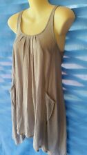 Ladies Sleeveless Tunic Filo Size 10 Cotton Layering Top Or Summer Nice And Cool