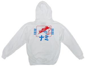 Ripple Junction One Piece Hoodie Japanese Anime Nami Hooded Sweatshirt White M