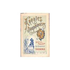 ANNALES DAUPHINOISES Abbaye d'Aiguebelle Peintre ZACHARIE Mariages Août 1900 N°7