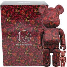 Medicom Be@rbrick Bearbrick M / mika ninagawa Leather Rose 100% & 400% Figure