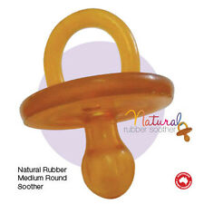 MakeUwell Natural Rubber Soothers Round Medium Twin Pack (3-6 Months) Dummy